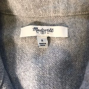 Madewell Tops - Madewell Gray Flannel Button Down